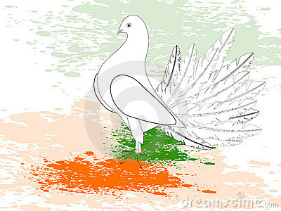 A republic day card with draw a flag.