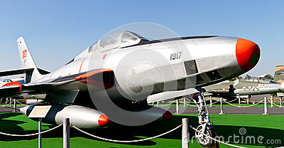 Republic F-84 Thunderjet Editorial Stock Image