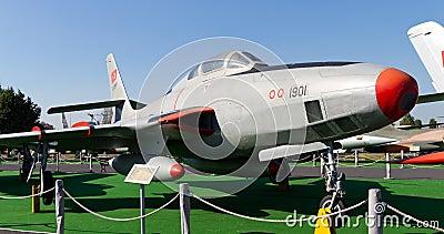 Republic F-84 Thunderjet Editorial Stock Photo