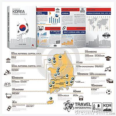 Infographic Korea Foods Business Flat Lay Idea. Stock Vector ...