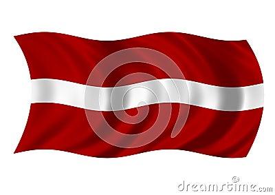 Republic of Latvia Flag