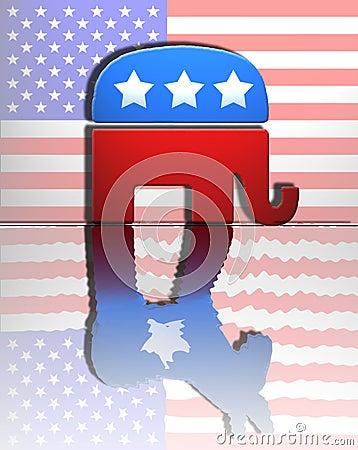 Republican Democrat Editorial Stock Photo