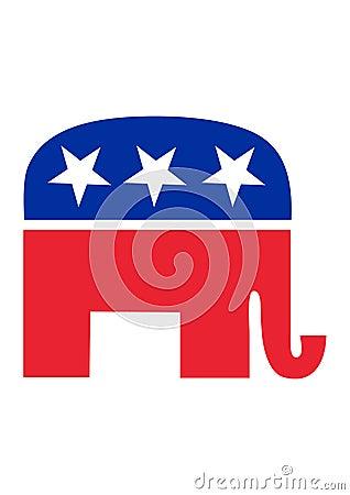 Free Republican Elephant Stock Photography - 9639972