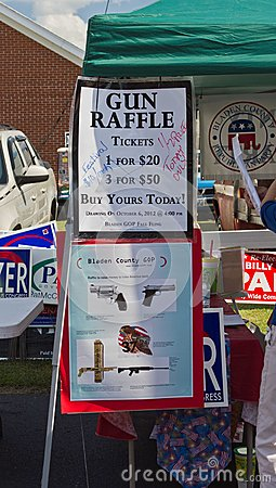 Republican/GOP Gun Raffle Editorial Image