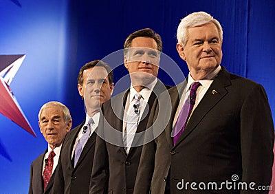 Republican Presidential Debate 2012 Editorial Photography