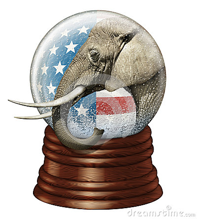 Republican Snow Globe