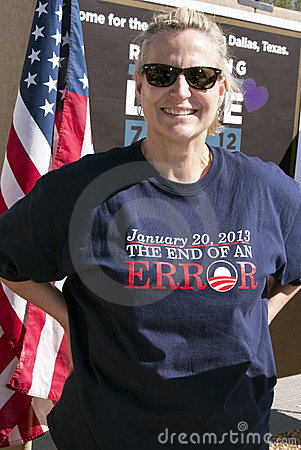 Republican Supporters at GOP Debate Editorial Stock Image