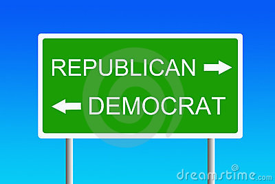 Republican versus democrat