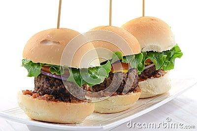 Resbaladores de la hamburguesa