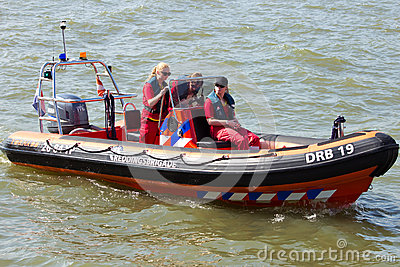 Rescue boat Editorial Photography