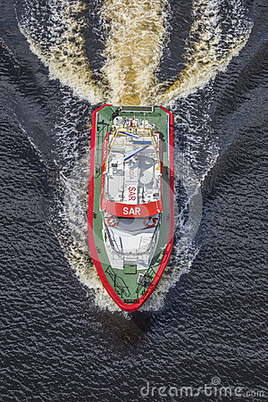 Rescue boat rs 142, horn flyer Editorial Photography
