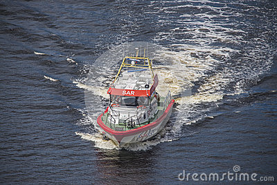 Rescue boat rs 142, horn flyer Editorial Image