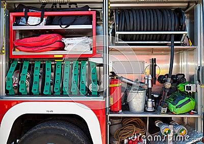 Rescue equipment of fire-brigade car