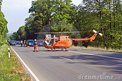 Rescue by Helicopter Editorial Photography