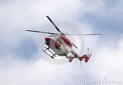 Rescue helicopter Editorial Stock Photo