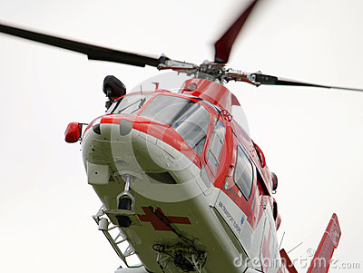 Rescue helicopter- Air Transport Slovakia Editorial Stock Image
