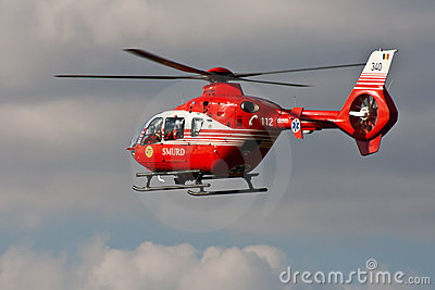Rescue helicopter EC-135 Editorial Image
