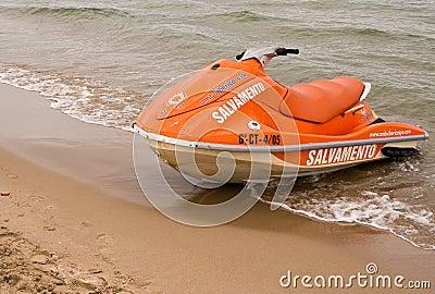 Rescue Jet Ski Boat Editorial Image