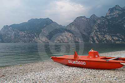 Rescue lifeguard boat