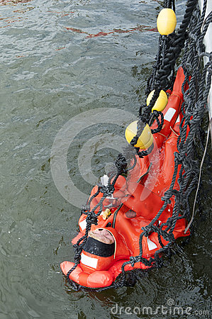 Rescue with a net Editorial Image