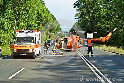 Rescue Operation on a street Editorial Stock Image