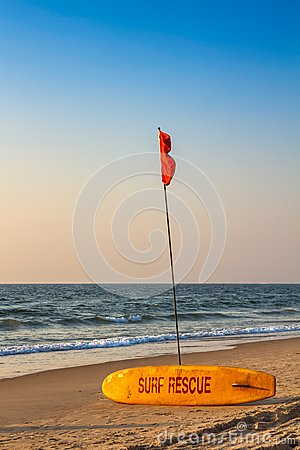Rescue surfboard Stock Photo