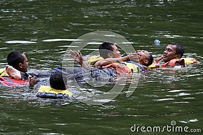 Rescue teams Editorial Stock Photo