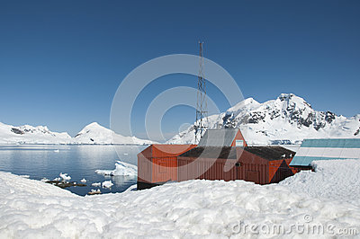Research station in Antarctic