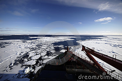 Research vessel in Antarctica