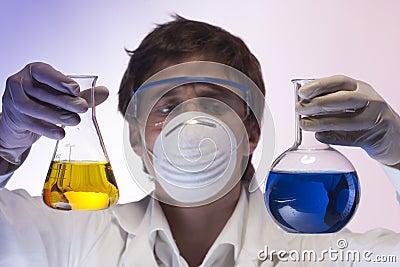 Researcher in the laboratory