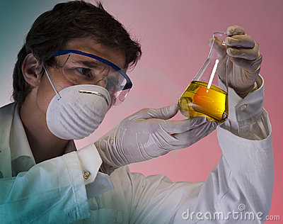 Researcher in the laboratory