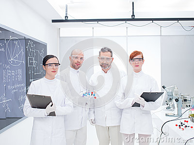 Researcher team in laboratory