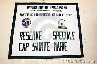 Reserve Cap Sainte Marie Editorial Stock Image