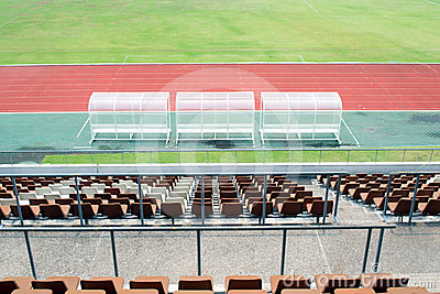 Reserve and staff coach bench