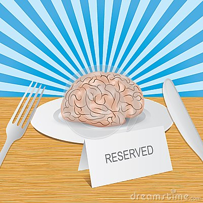 Reserved brain lies on a plate