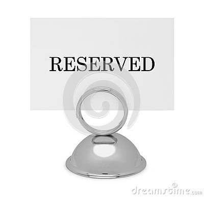 RESERVED Place Card Holders Table Sign Holder by Baggavond  |Reserved Table Sign Holder