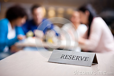 Reserved table at nice restaurant