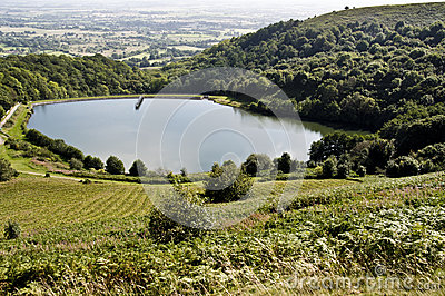 Reservoir at malvern hills, worcestershire