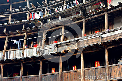 Residence in Earth Castle, Fujian, China Editorial Stock Photo
