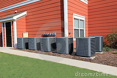 residential air conditioning units royalty free stock photos image
