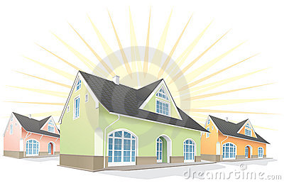 Residential area,houses.Vector
