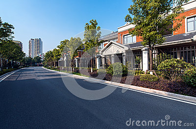 Residential area road