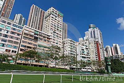 Residential Building in Happy Valley, Hong Kong Stock Photo