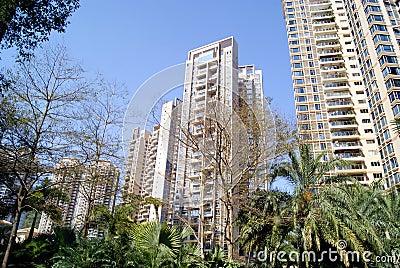 Residential building landscape