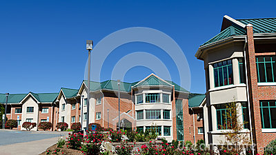 Residential hall buildings