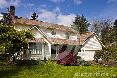 Residential home in suburbia.
