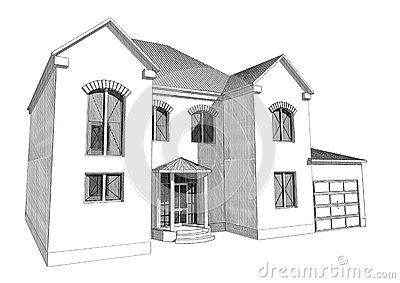 Residential house 3d stock illustration image 66908142 3d house design drawings