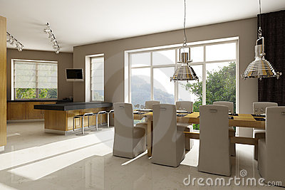 Residential house interior