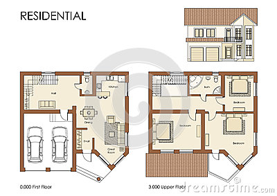 Residential House Cad Floor Plan Blueprint Project