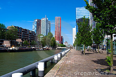 Residential houses. The centre of Rotterdam